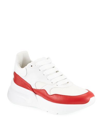 Colorblock Leather Sneakers