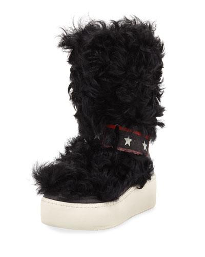 Cool Moon Fur Mid-Calf Boots