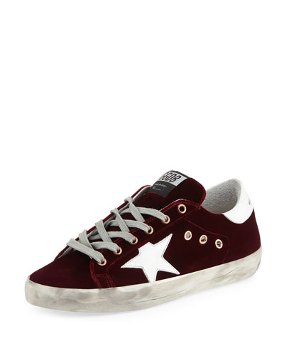 Superstar Velvet Platform Low-Top Sneaker