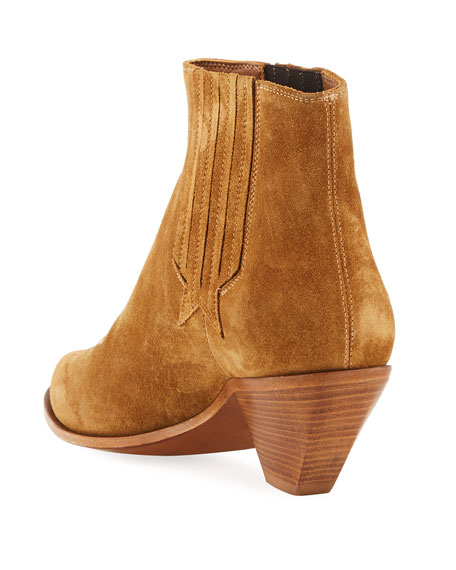 Sunset Suede Cowboy Ankle Boot