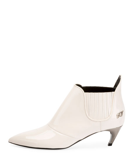 Choc Real Elastic Bootie, White