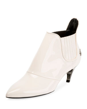d5fa3c496 Roger Vivier Choc Real Elastic Booties, White