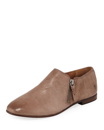 Terri Leather Zip Ankle Booties