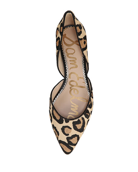 Rodney Pointed-Toe Leopard Flats