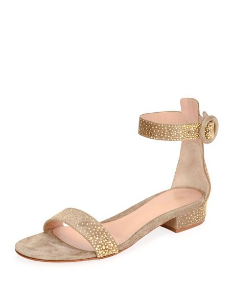 Gianvito Rossi Portofino Studded 20mm Sandal