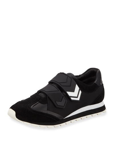 Chevron 2-Strap Sneakers