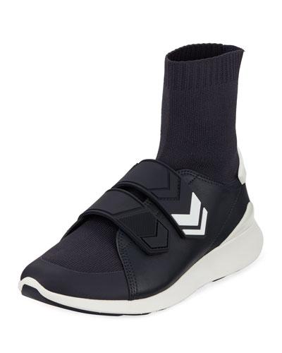 Chevron-Strap Sock Sneakers