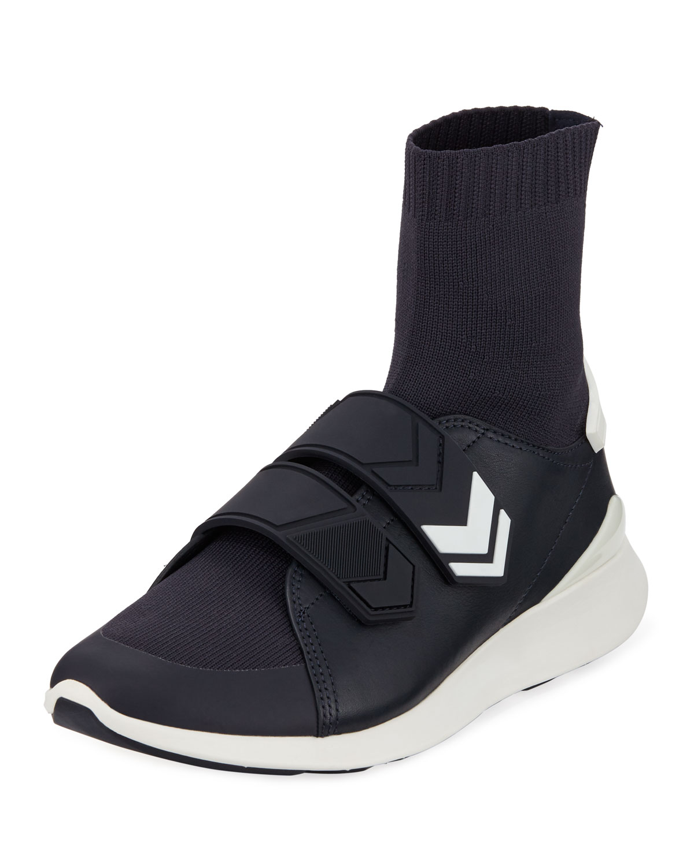 00623f2c2322 Tory Sport Chevron-Strap Sock Sneakers
