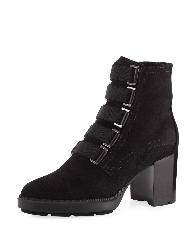 0c0c242ea2d Aquatalia Indira Soft Leather Block-Heel Booties