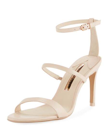 Rosalind Strappy Leather Mid-Heel Sandals