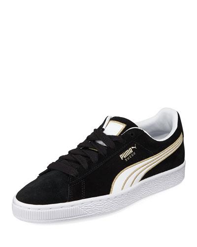 Varsity Suede Platform Sneakers