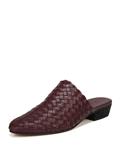 Galena Woven Leather Mule