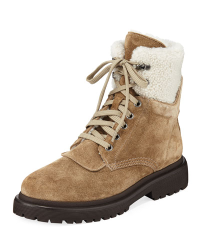 Patty Suede Lace-Up Boots