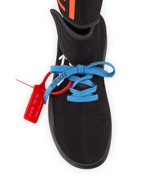 Moto Wrap Scuba Runner Sneakers with Arrows
