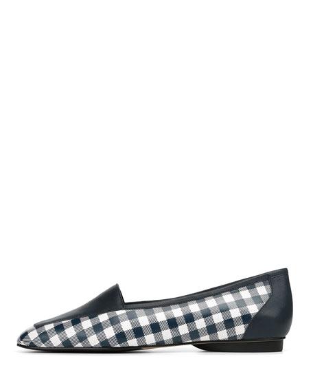 Deedee Gingham Flat Loafers