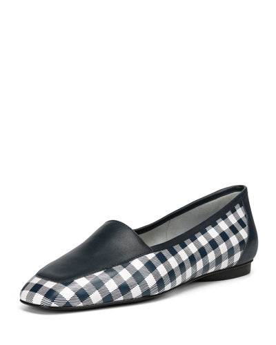 Deedee Gingham Flat Loafers