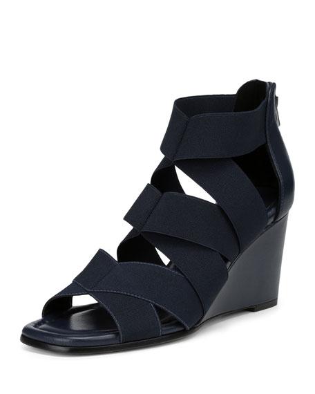 Lelle Elastic Wedge Sandal
