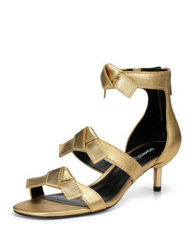 30d99378284 Cady Metallic Leather Bow Sandals
