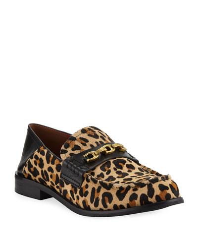 Putnam Leopard-Print Loafers
