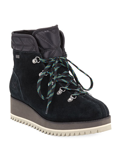 UGG Australia Birch Lace-Up Wedge Hiker Booties