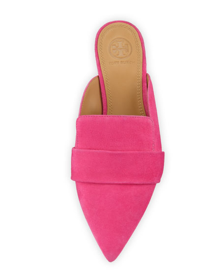 Rosalind Pointed-Toe Suede Mules