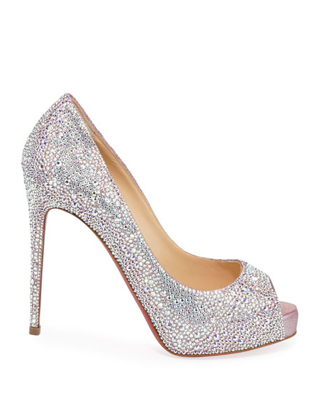 New Very Riche 120 Peep-Toe Red Sole Pumps