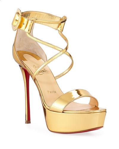 Choca Specchio Red Sole Sandals