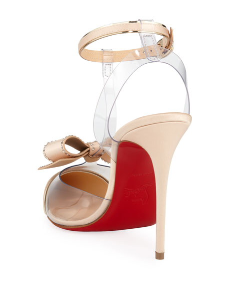 Naked Bow Red Sole Pumps