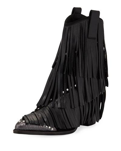 Carla Plus Fringed Western Boots