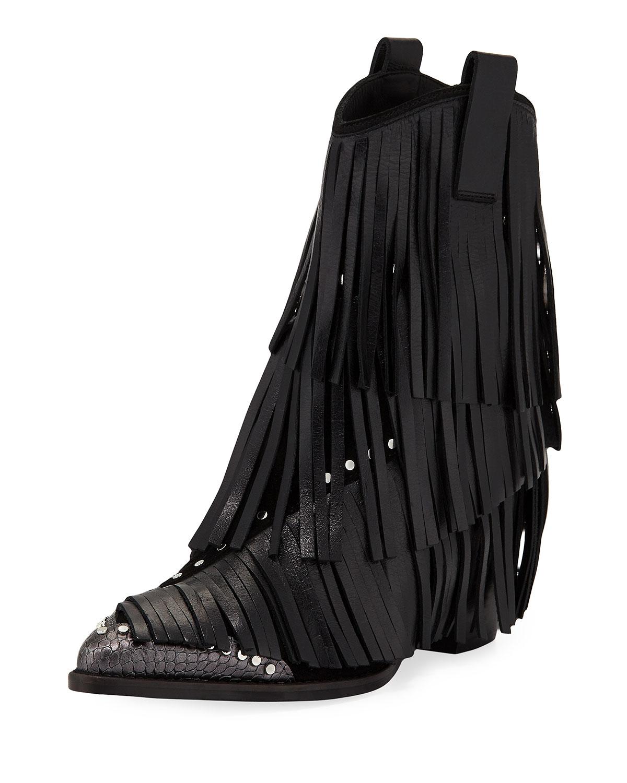 a86796521ca Carla Plus Fringed Western Boots
