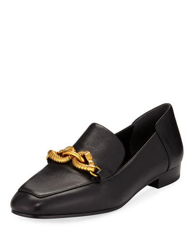 Jessa Leather Loafers w/ Horse Hardware