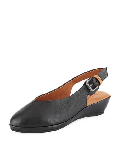 Noemi Leather Slingback Flats