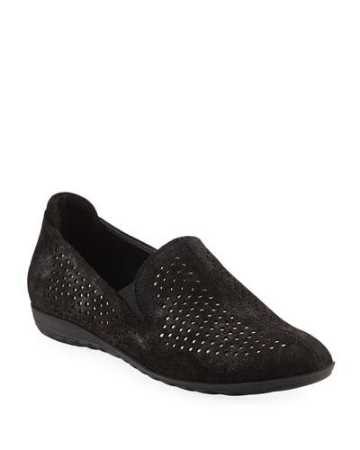 Berget Studded Comfort Slip-Ons, Black