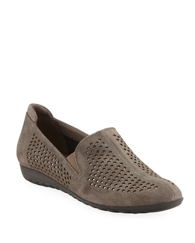 Berget Studded Comfort Slip-Ons, Taupe