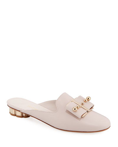 Sciacca Studded Bow Mules