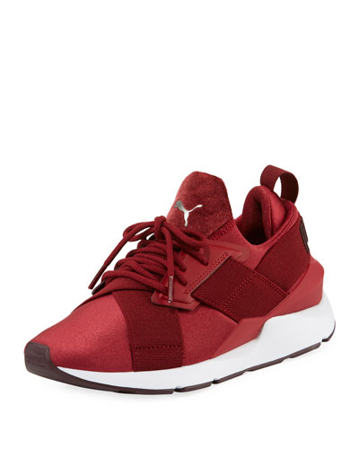 Women's Muse Satin II Sneakers, Red