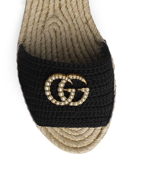 Gucci Layered Platform Crochet Espadrilles