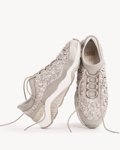 Muse Beaded Crystal Sneakers