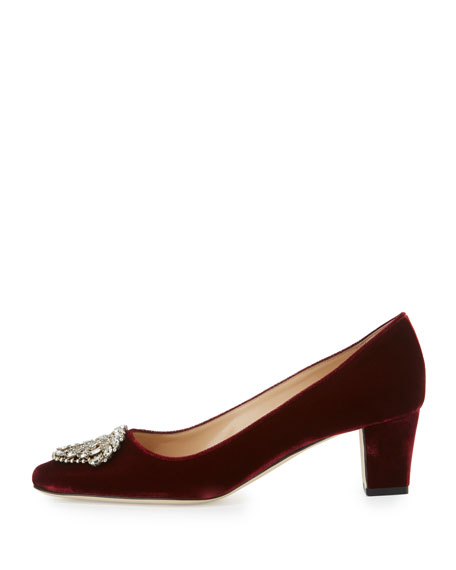 Okkato Velvet Ornament Pump