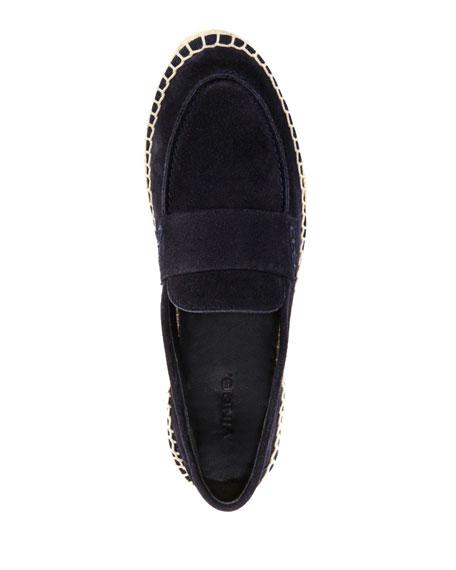 Daria Suede Flat Espadrille Loafers