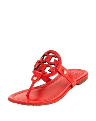 c3dfb0eb1 Tory Burch Miller Leather Logo Flat Slide Sandals · Save