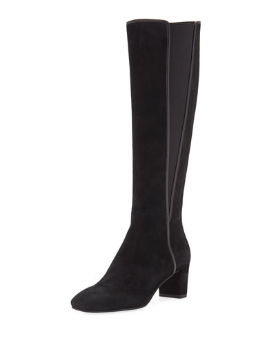 Jamey Tall Stretch Suede Knee Boots