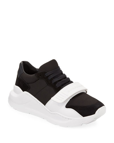 Regis Neoprene Low-Top Sneakers with Exaggerated Sole