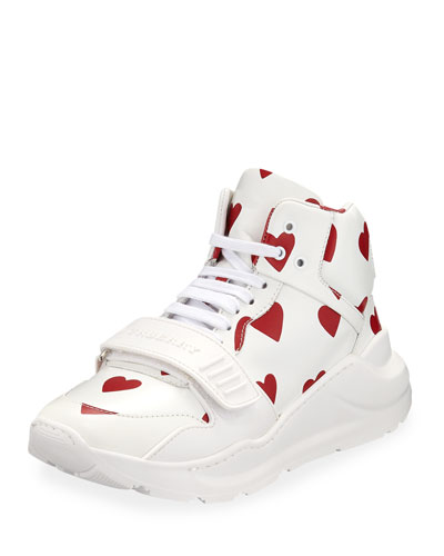 Regis Heart High-Top Sneakers