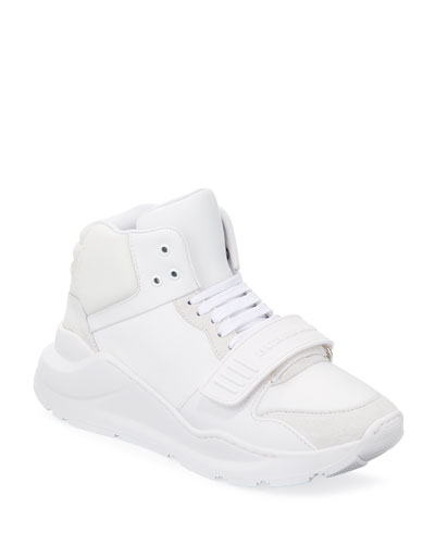 Regis Leather/Suede High-Top Sneakers