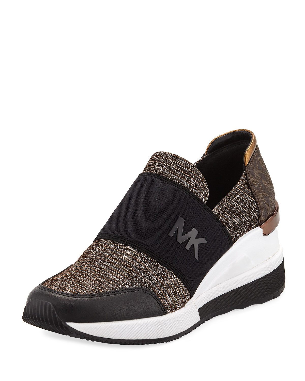 523c9fea86f05 MICHAEL Michael Kors Felix Logo Slip-On Trainer Sneakers