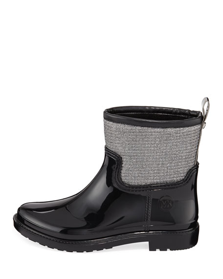michael kors blakely glitter rain boots