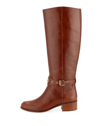 804a404e700 MICHAEL Michael Kors Heather Leather Knee Riding Boots | Neiman Marcus