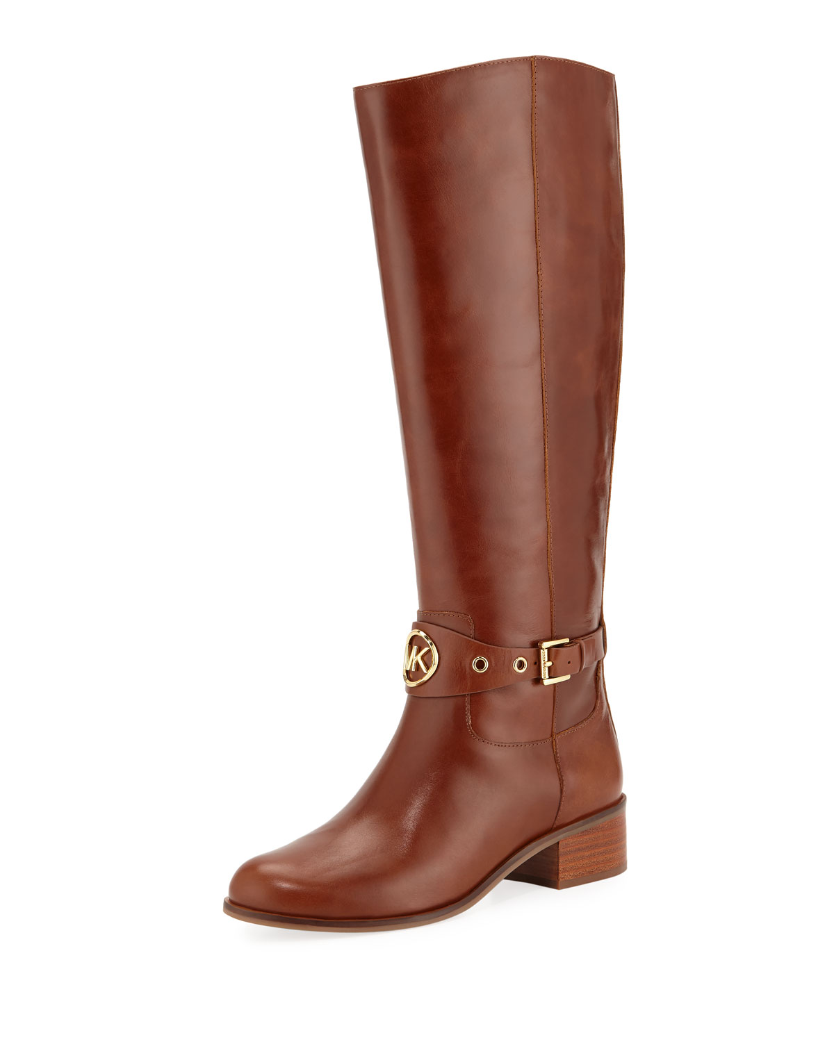 united kingdom genuine shoes various styles Heather Leather Knee Riding Boots