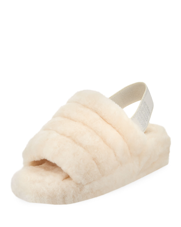 f0c4ead1093 UGG Fluff Yeah Shearling Glitter Slide Slippers